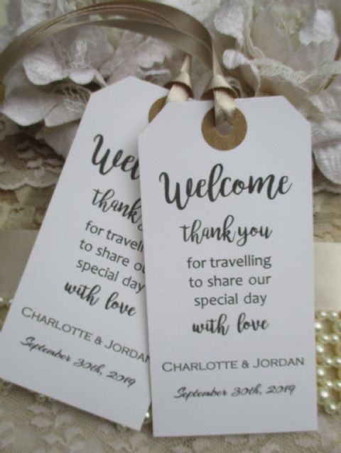 10 Welcome Thank You for Travelling Personalized Tag